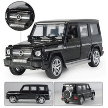1/32 G65 Diecast Alloy Car Model Music Sound Lighting SUV Models Off-road Vehicles Model High Simulation Toy Gifts Collections(China)