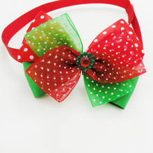 Armi store Handmade Lace Dot Pattern Ribbon Dog Tie Dogs Christmas Ties Bow 6033019 Pet Accessories Wholesale