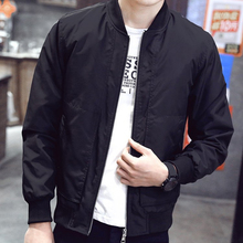 Spring Autumn Men's Jackets Solid Fashion Coats Male Casual Slim Stand Collar Bomber Jacket Men Overcoat 4XL #95789