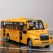 1:32 Scale Alloy Diecast Metal Car Model For BLUE BIRD School Bus Truck Collection Model Pull Back Toys With Sound&Light(China)