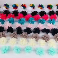 Smiry 2Y Flowers 3D Chiffon Cluster Flower Lace Barcode Dress Headwear Decoration Lace Fabric Applique Trimming Sewing Supplie