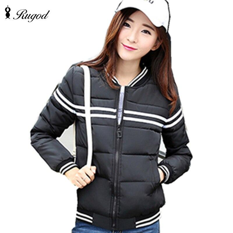 2017 New Autumn Winter Jacket Women Slim Coat Female  Short Cotton Baseball Uniform Jackets StudentsОдежда и ак�е��уары<br><br><br>Aliexpress