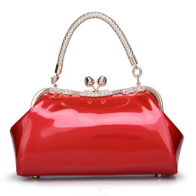 Women Bag Fashion Luxury Brand 2017 Spring Summer Solid bag Ladies Leather Brides Women Diamond Handbag Wedding High Quality Red