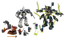 754pcs new Ninja Titan Mech Battle Model Building Kit Blocks Set Ninja Compatible with All brands toys For Children 10399