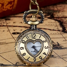 New Arrive Vintage Bronze Tone Spider Web Design Chain Pendant Men's Pocket Watch Gift Dropship s7