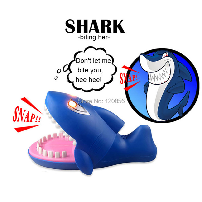 Funny 22CM Gags Practical Jokes toy shark dentist parent-child funny game Family interactive toy Gift For boy girl Kids children(China)