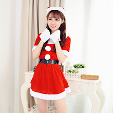 One-Piece Xmas costume for women Santa Claus Christmas Dress New Year Party Dress Sexy Xmas Eve Costumes X9