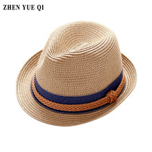 Korean New Summer Fedora Straw Beach Sun Hats for Men Women Casual Visor Travel Outdoor Panama Floppy Hat Fashion Chapeau Femme(China)