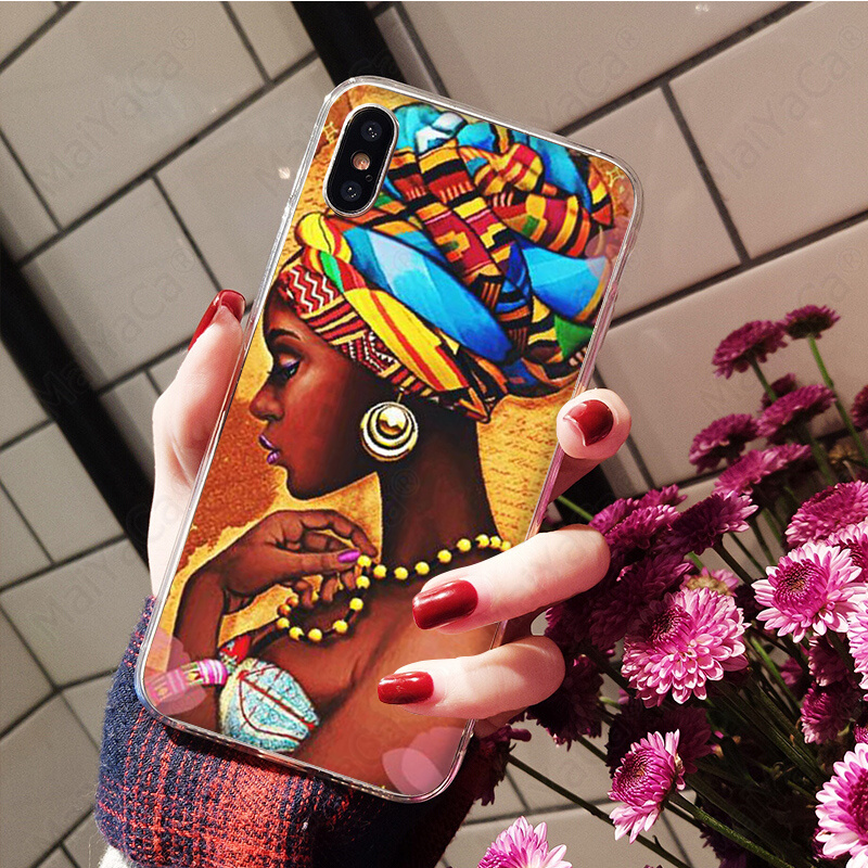 Colorful art african girl