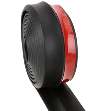 Soft Black Car Bumper Strip 65mm Width 2.5m Length Exterior Front Bumper Lip Kit Car Bumper Strip Styling Mouldings High Quality
