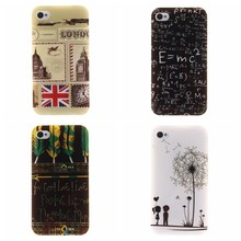 Cartoon letter Sky Cloud Feather UK Big Ben USA Flag Art paintings Owl  Soft TPU Cell Phone Case Cover For iPhone 5 5s SE 5G