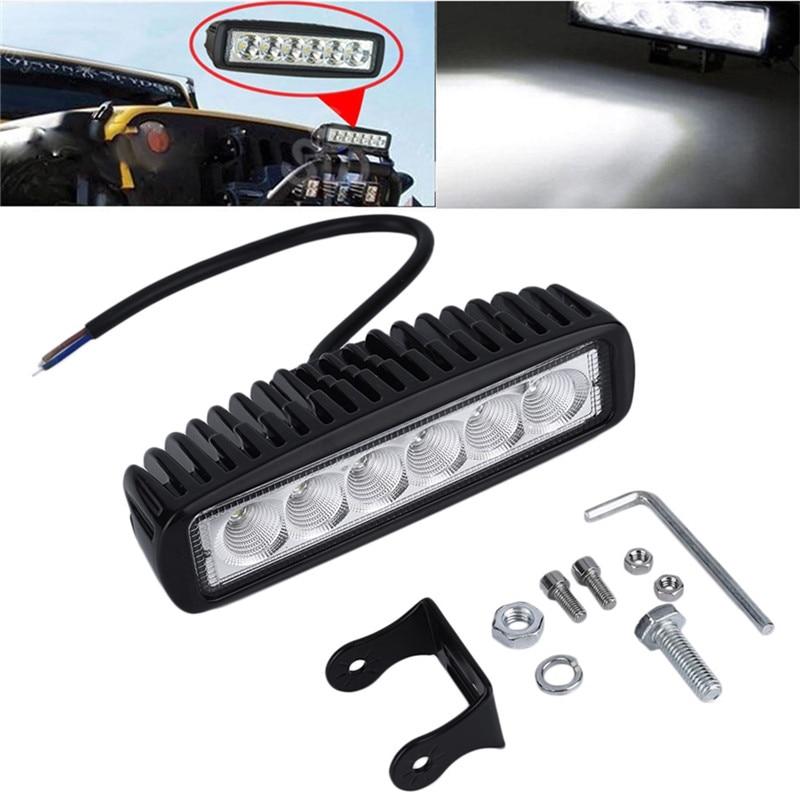 Car Truck 18W 6 SMD LED Work Light Bar Reversing Flood Worklight Lamp for Jeep Boat 4WD 12V 24V<br><br>Aliexpress