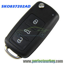 5K0837202AD 434Mhz 48 chip 5K0 837 202 AD car auto flip key for VW GOLF PASSAT Tiguan Polo Jetta Beetle 5K0837202AD 202AD