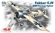 Out of print! ICM Models 1/72 WWI Fokker E IV German Fighter ICM72111(China)