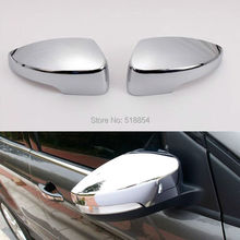 FIT FOR FORD ESCAPE KUGA 2013 2014 2015 2016 CHROME SIDE DOOR MIRROR REAR VIEW TRIM COVER CAP OVERLAY MOLDING GARNISH GUARD