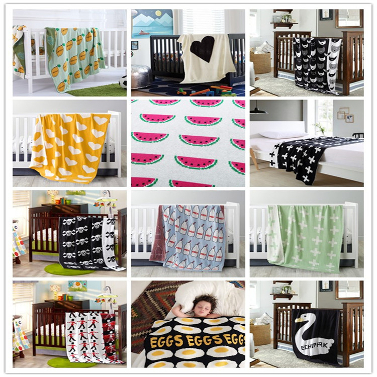 2017 Direct Selling New Swaddle Baby Blankets Newborn Handmade Knitted Sofa Throw Knitting Blanket 90*110cm 17colors Available <br><br>Aliexpress