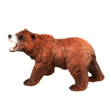 Starz Animals World Alaska Grizzly Brown Bears Static Model Plastic Action Figures Educational Toys Gift for Kids