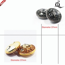 1 pcs,37mm mix  fashion metal acrylic Fur buttons, Mink coat buttons. Rhinestone buttons. big with a diamond buckle.accessory,t6