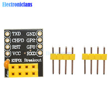 Free Shipping! ESP8266 ESP-01 ESP-01S Breadboard Adapter PCB for Serial Wifi Transceiver Network Module