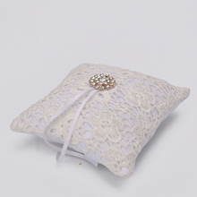 Beautiful White Flower Shape With Flash Diamond Romantic Wedding Ring Pillow Cushion Home Decoration(China)