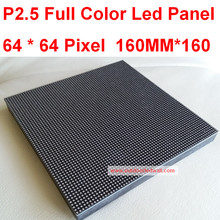 p2.5 full colo led display, indoor rgb  led display screen,1/32 scan, 160*160mm 65*64 pixel ,HD resolution, Free Shipping