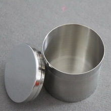 Stainless steel thick small canisters Canister tobacco dried coffee bottles with cover