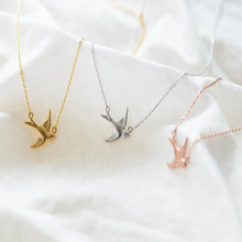 30PCS/lot  Fashion Rose gold plating necklace Solid swallow necklaces for women wholesale and mixed color  free shipping
