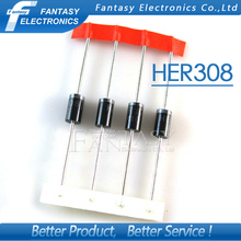 20PCS HER308 3A 1000V Fast Recovery Diodes free shipping(China)