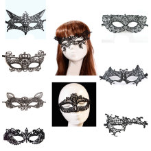 Halloween Eye Face Masks Venetian Party Mask Anonymous Mardi Gras Mask Masquerade Female Masque Sexy Black Lace Mask 9 Style