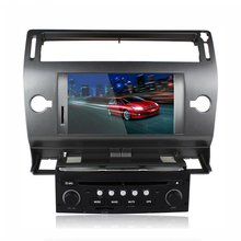 Car stereo radio For Citroen C4 with Radio RDS BT 8GB Map Card DVD Radio BT phonebook USB SWC Free map