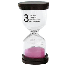Practical Boutique 1 Pink Glass + Sand 3 minute tick time Hourglass With packaging 10 * 4.3cm