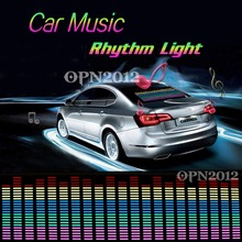90x25cm Rhythm Music Activated Equalizer Car Decration Sticker Glow Flash Panel Multi Designs LED Car Music Light #2296
