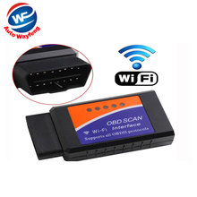 Price Best Quality V1.5 ELM327 WIFI OBD AUTO CHECKER OBD2 / OBDII Scanner On IOS Android ELM 327 WIFI Diagnostic Tool(China)