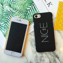 "Buy Nice Letter Case iPhone 8 6 6S 7 Plus 4.7/5.5"" Funny Smile Face Back Cover Hard Capa Coque iPhone 5 5S SE Phone Cases for $1.20 in AliExpress store"