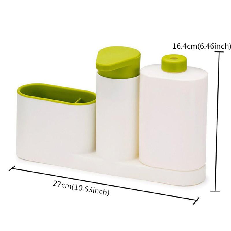 ASFULL Multifunctional Washing Sponge Storage Sink Detergent Soap Dispenser Storage Rack Hand Sanitizer for Bottle Kitchen use 3