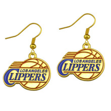 5 Pairs Fashion Sports Earrings Enamel American Basketball Team L. A Clippers Charm Drop Earrings