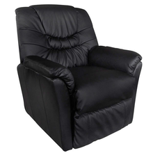 iKayaa Black massage chair Tilano Living Room Sofa For Home ES Stock
