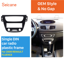 Newest Black 1 Din car radio Fascia for 2009 RENAULT FLUENCE Auto Stereo Interface Panel Dash Mount Kit Adaptor Trim Bezel