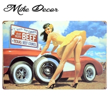 [ Mike86 ] Sexy Beef Metal signs retro Art  wall decor Home Restaurant Vintage Craft B-77 Mix order 20*30 CM