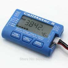 AOK Cell Meter 8 Multifunctional Digital Power Servo Checker Tester 2S-8S with background light and Discharge 8M(China)
