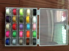 25 Assorted Colors Sewing Thread and Case Organizer with Clear Sewing Machine Bobbins for Brother/ Babylock/ Janome/ Kenmore