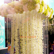 30PCS 100CM Artificial Hydrangea Orchid Wisteria Flower String For DIY Simulation Wedding Arch Square Rattan Wall Hanging Basket(China)