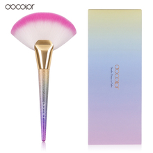 Docolor Professional Large Fan Makeup Brush Contour Make Up Brushes Tool Blush Powder Brush(China)