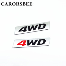 CARORSBEE Car Styling 3D Chrome Metal Sticker 4WD Displacement Emblem 4X4 SUV Badge Decal For corolla avensis hilux toyota camry