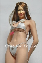 Estartek Customized Hand Made 1/6 Silver Sexy Leopard Pattern Bikini for Phicen Tbleague Jiaoudoll Verycool Action Figure DIY(China)
