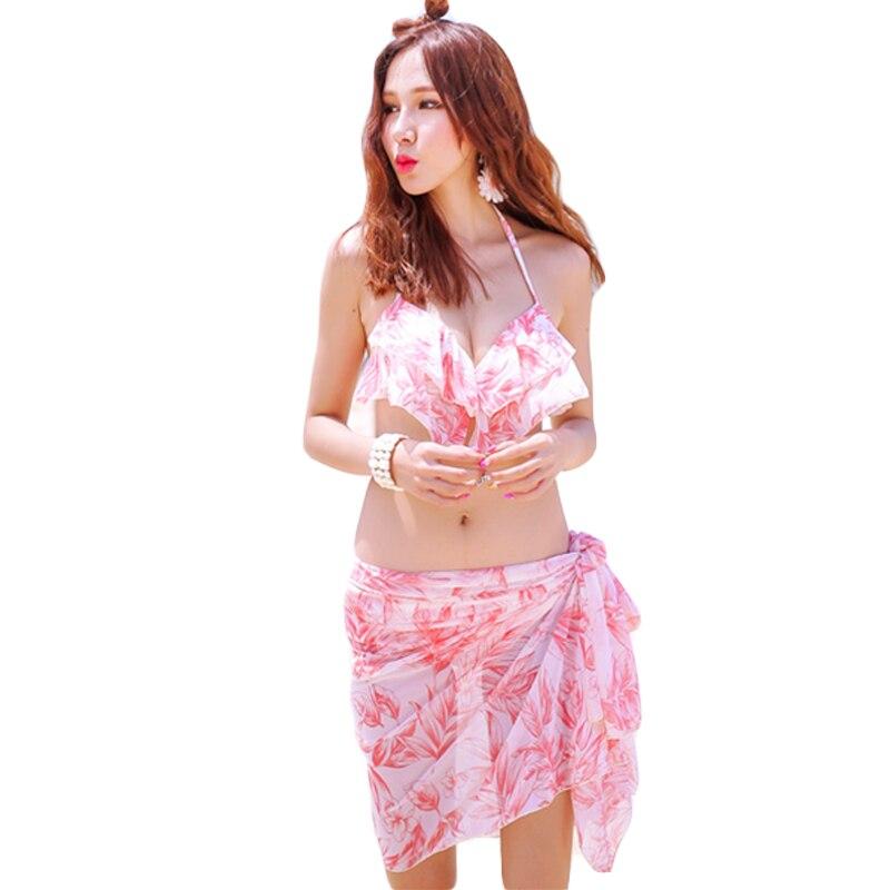 New Brand Couple Style Men Shorts And Women Bikini Sets Swimsuits Print Blue And Pink Beach Wear Paddings Ropa De Bano DA738<br>