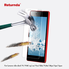 0.3mm 9H Tempered glass film lenovo vibe shot P1 P1M x3 x2 P70 K80 P780 S850 S90 S920 screen protector Clean Tool - Returnda store