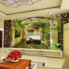 Beibehang 3d large mural wallpaper Rural warm sitting room TV background wallpaper Balcony garden wall paper home decor(China)
