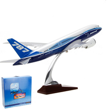 Brand New 43cm Alloy Metal Plane Model  Boeing 787  Airlines Airplane Model w Stand Aircraft Gift Free Shipping