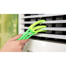 Air Conditioning Shutters Cleaning Brush Kit Car Interior Cleaning Brush Household Cage Door Look Corner Crack Dusting Rags(China)